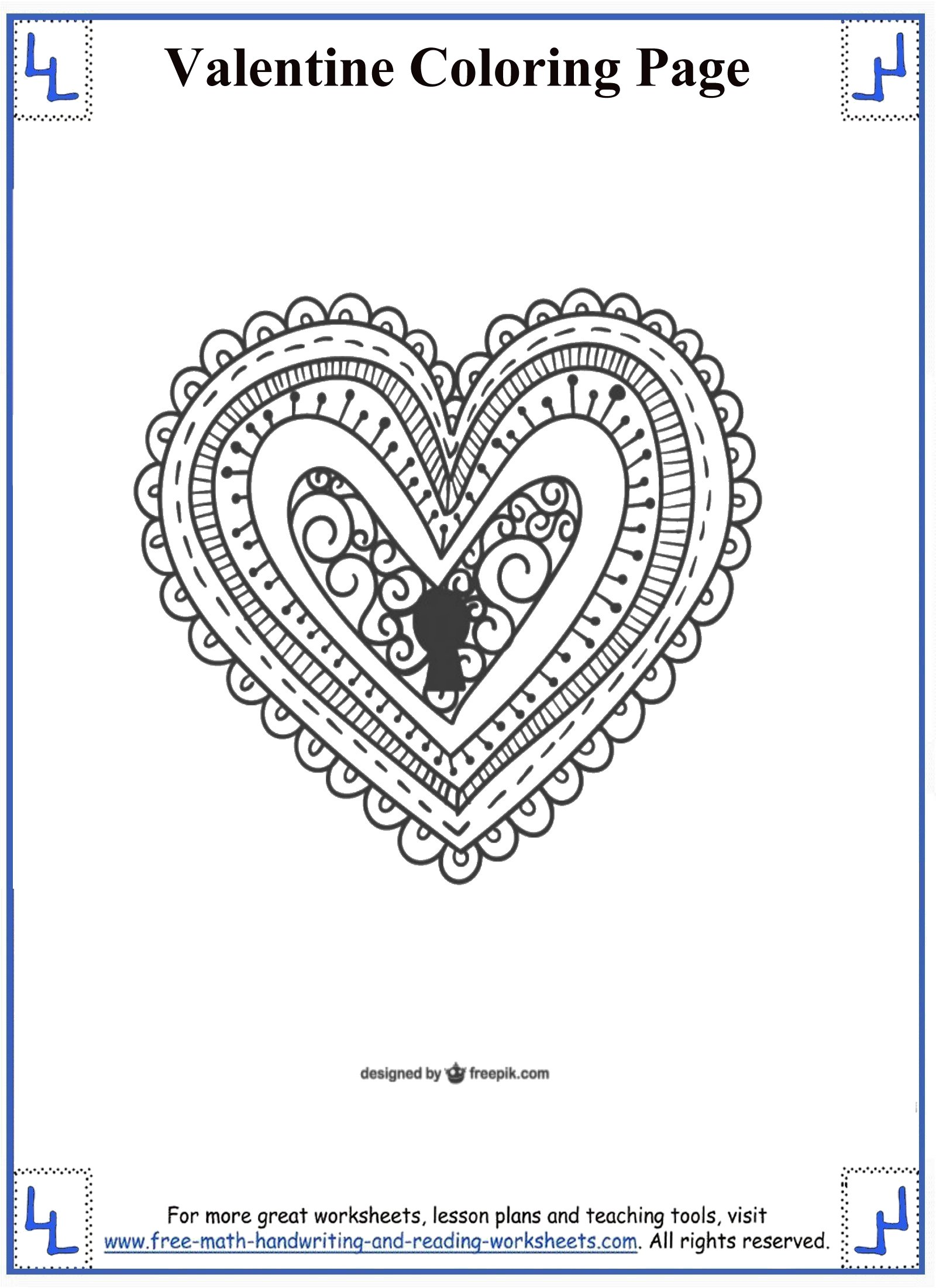 valentines day coloring pages 6
