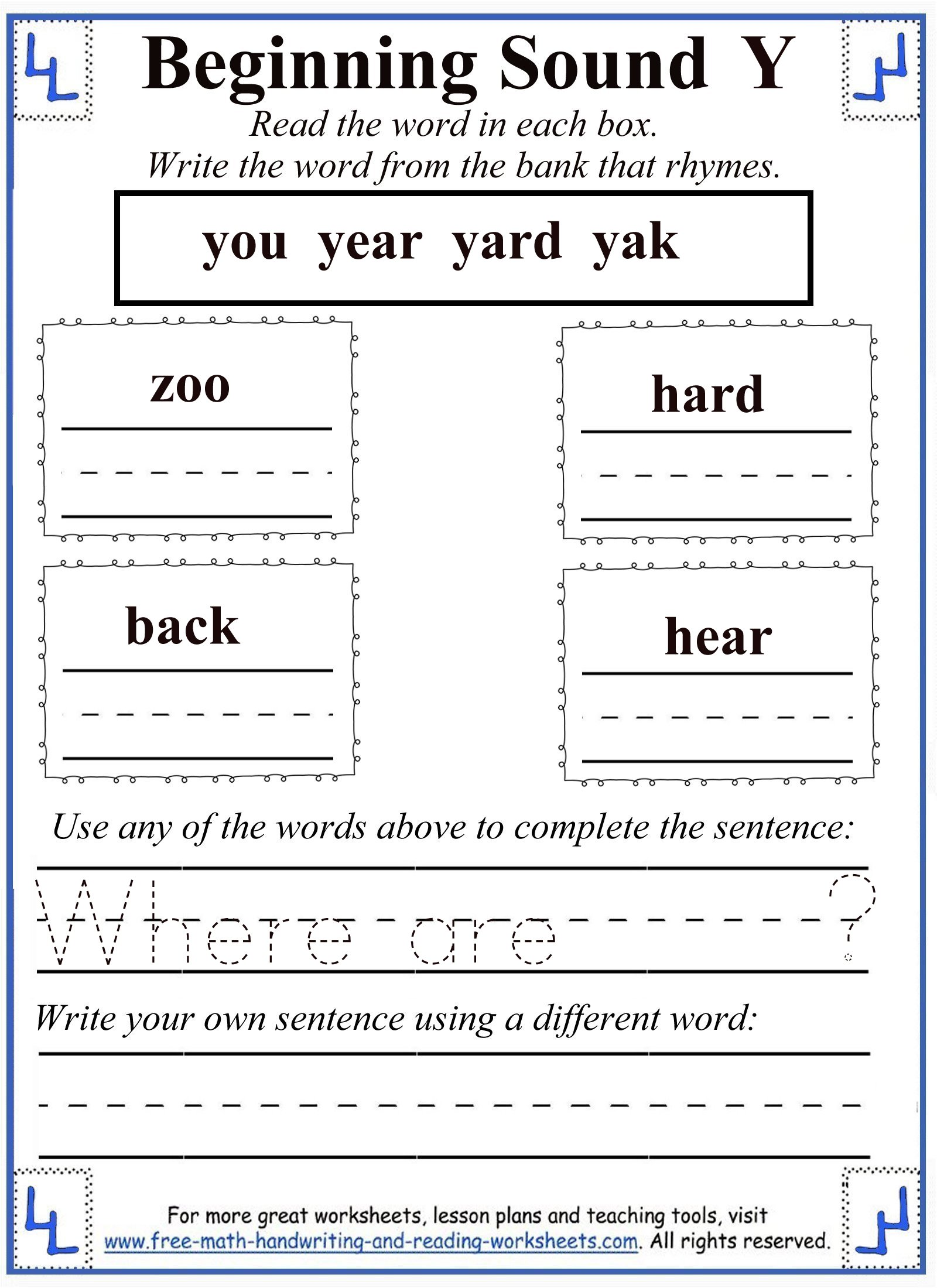 Free Worksheet Letter Y Worksheets y letter worksheets 5